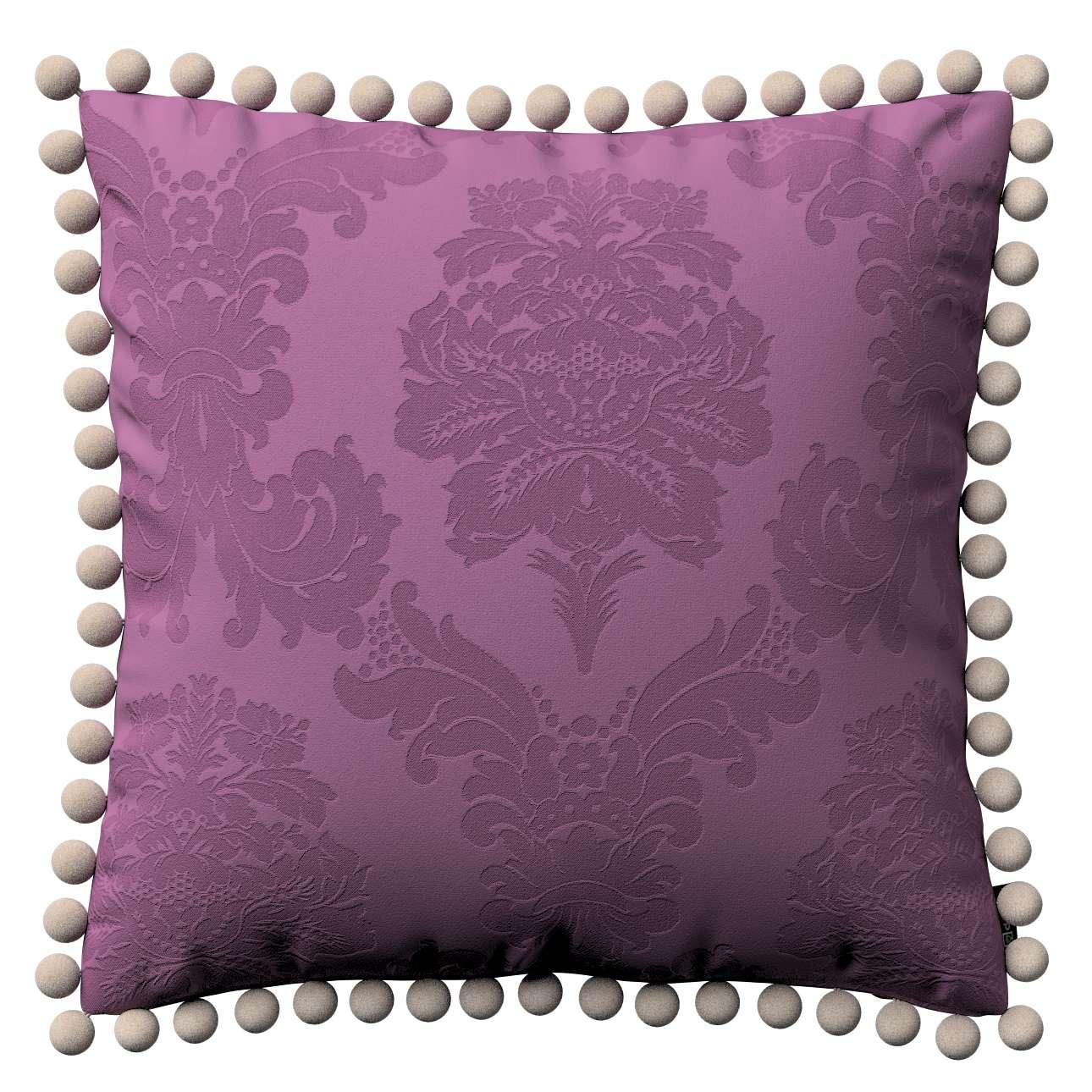 Wera dekoratyvinės pagalvėlės su žaismingais kraštais 45 x 45 cm kolekcijoje Damasco, audinys: 613-75