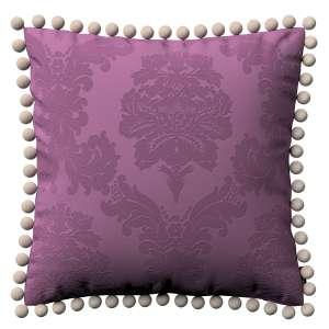 Wera dekoratyvinės pagalvėlės užvalkalas su žaismingais kraštais 45 x 45 cm kolekcijoje Damasco, audinys: 613-75