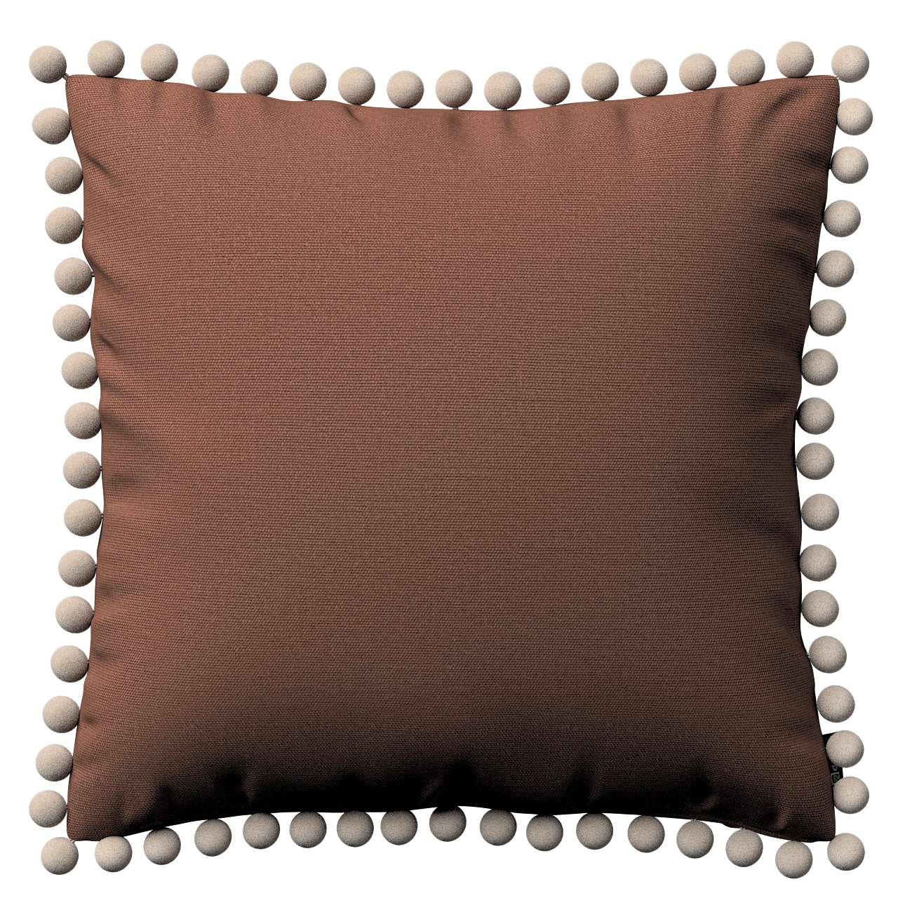 Wera dekoratyvinės pagalvėlės užvalkalas su žaismingais kraštais 45 × 45 cm kolekcijoje Loneta , audinys: 133-09