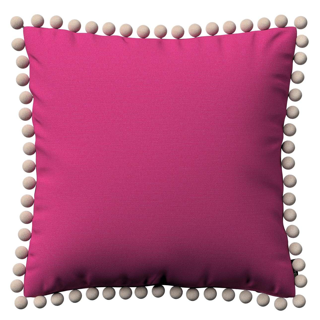 Wera dekoratyvinės pagalvėlės užvalkalas su žaismingais kraštais 45 x 45 cm kolekcijoje Loneta , audinys: 133-60