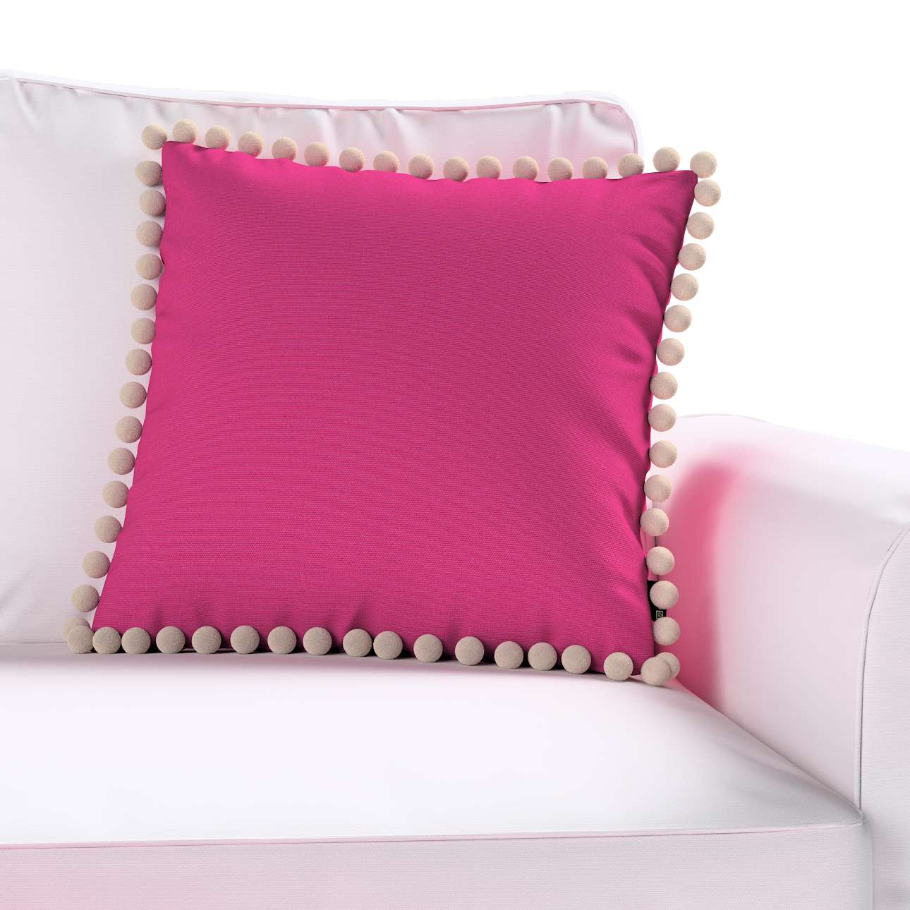 Wera dekoratyvinės pagalvėlės užvalkalas su žaismingais kraštais kolekcijoje Loneta , audinys: 133-60