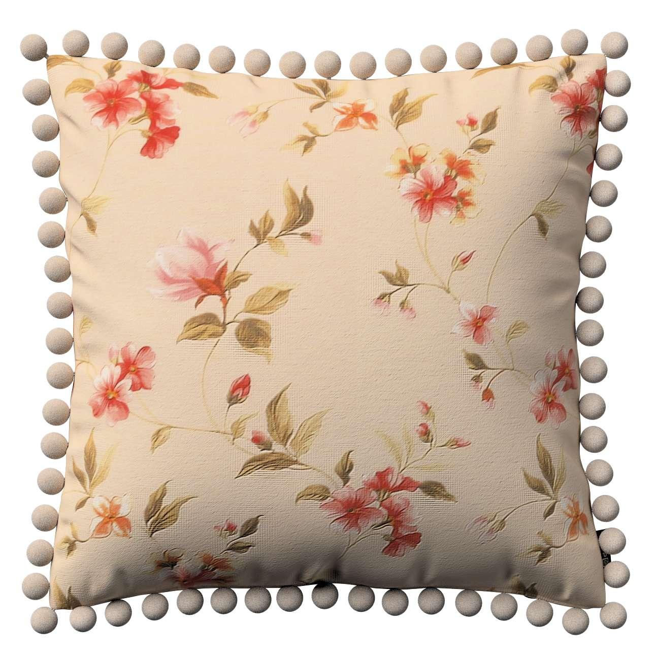 Wera dekoratyvinės pagalvėlės užvalkalas su žaismingais kraštais 45 x 45 cm kolekcijoje Londres, audinys: 124-05