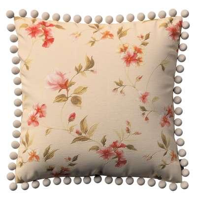 Poszewka Wera na poduszkę 124-05 kwiatki na kremowym tle Kolekcja Londres