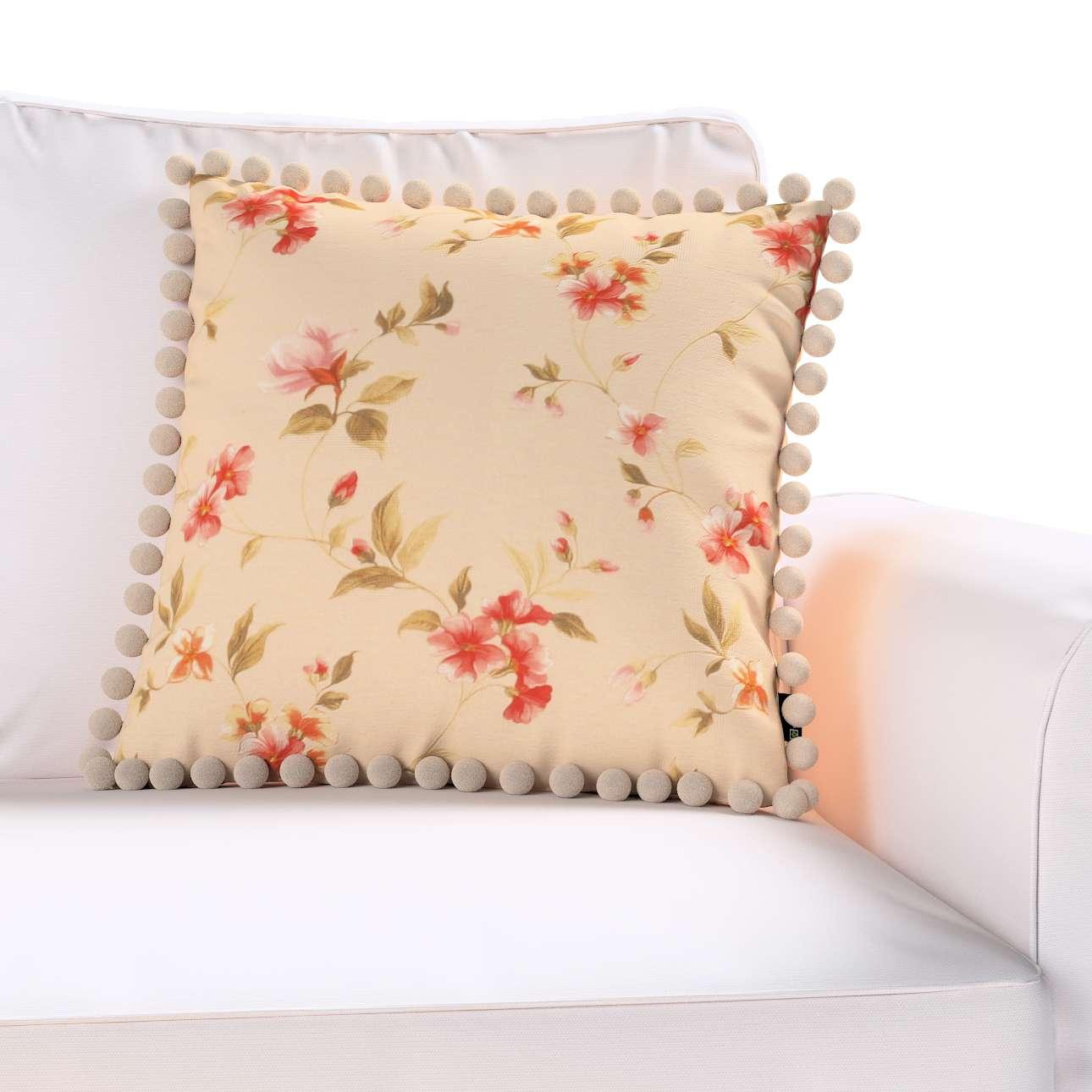 Wera dekoratyvinės pagalvėlės užvalkalas su žaismingais kraštais kolekcijoje Londres, audinys: 124-05