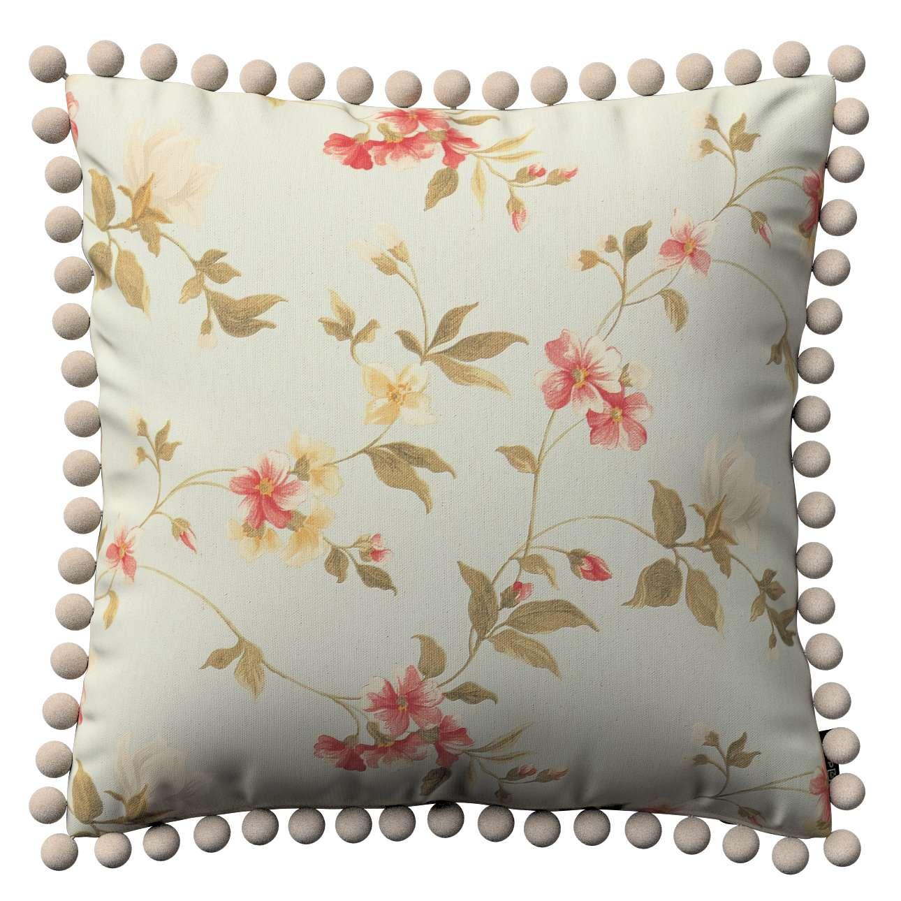 Wera dekoratyvinės pagalvėlės užvalkalas su žaismingais kraštais 45 x 45 cm kolekcijoje Londres, audinys: 124-65
