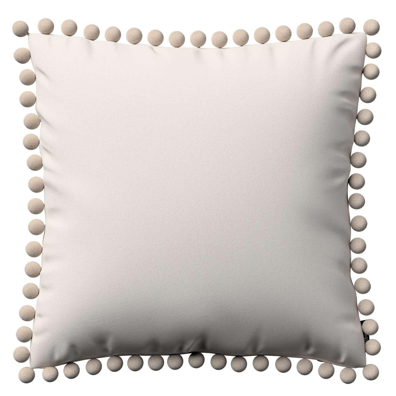 Wera dekoratyvinės pagalvėlės užvalkalas su žaismingais kraštais 45 x 45 cm kolekcijoje Etna , audinys: 705-01