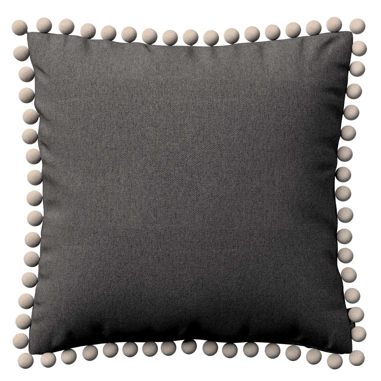 Wera dekoratyvinės pagalvėlės užvalkalas su žaismingais kraštais 45 x 45 cm kolekcijoje Etna , audinys: 705-35