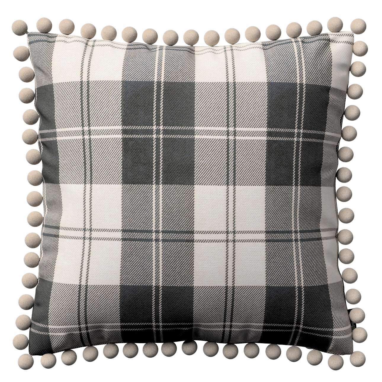 Wera dekoratyvinės pagalvėlės užvalkalas su žaismingais kraštais 45 x 45 cm kolekcijoje Edinburgh , audinys: 115-74