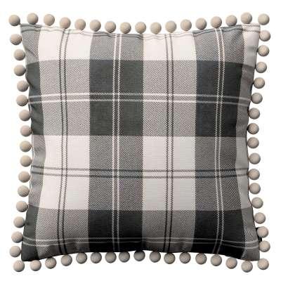 Poszewka Wera na poduszkę 115-74 krata czarno-biała Kolekcja Edinburgh