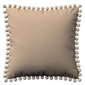 Kissenhülle Wera mit Bommeln 45 x 45 cm von der Kollektion Cotton Panama, Stoff: 702-28