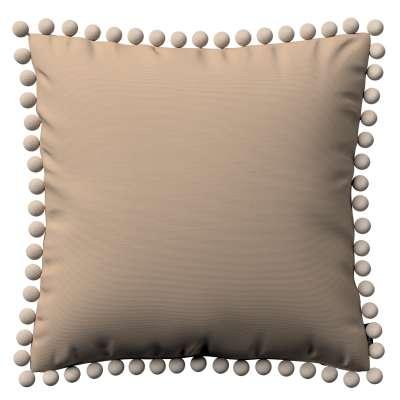 Kissenhülle Wera mit Bommeln von der Kollektion Cotton Panama, Stoff: 702-28