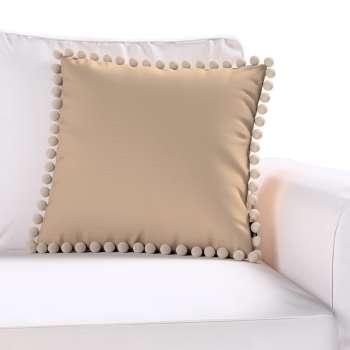 Wera dekoratyvinės pagalvėlės užvalkalas su žaismingais kraštais kolekcijoje Cotton Panama, audinys: 702-28