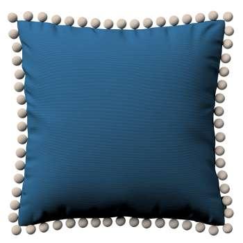 Kissenhülle Wera mit Bommeln 45 x 45 cm von der Kollektion Cotton Panama, Stoff: 702-30