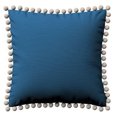 Viera s brmbolcami 702-30 modrá morská Kolekcia Cotton Panama