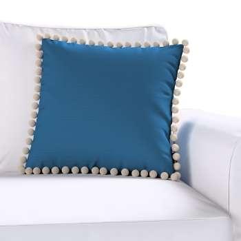 Kissenhülle Wera mit Bommeln von der Kollektion Cotton Panama, Stoff: 702-30
