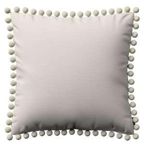 Kissenhülle Wera mit Bommeln 45 x 45 cm von der Kollektion Cotton Panama, Stoff: 702-31