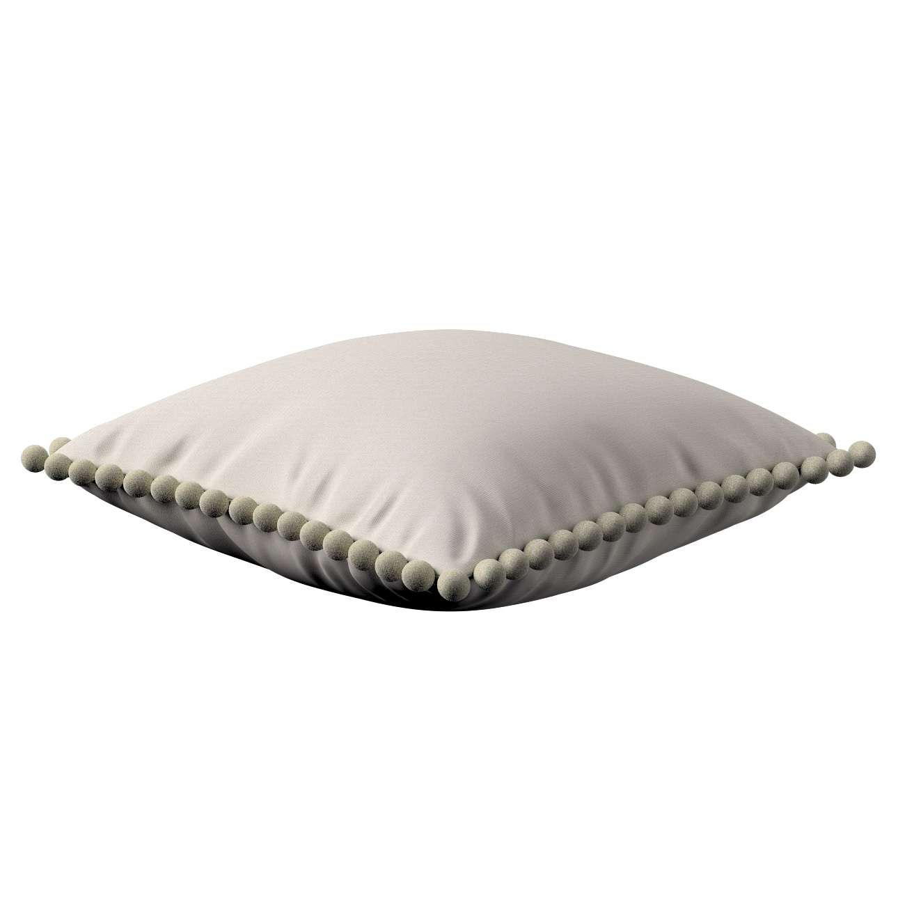 Wera dekoratyvinės pagalvėlės užvalkalas su žaismingais kraštais 45 x 45 cm kolekcijoje Cotton Panama, audinys: 702-31