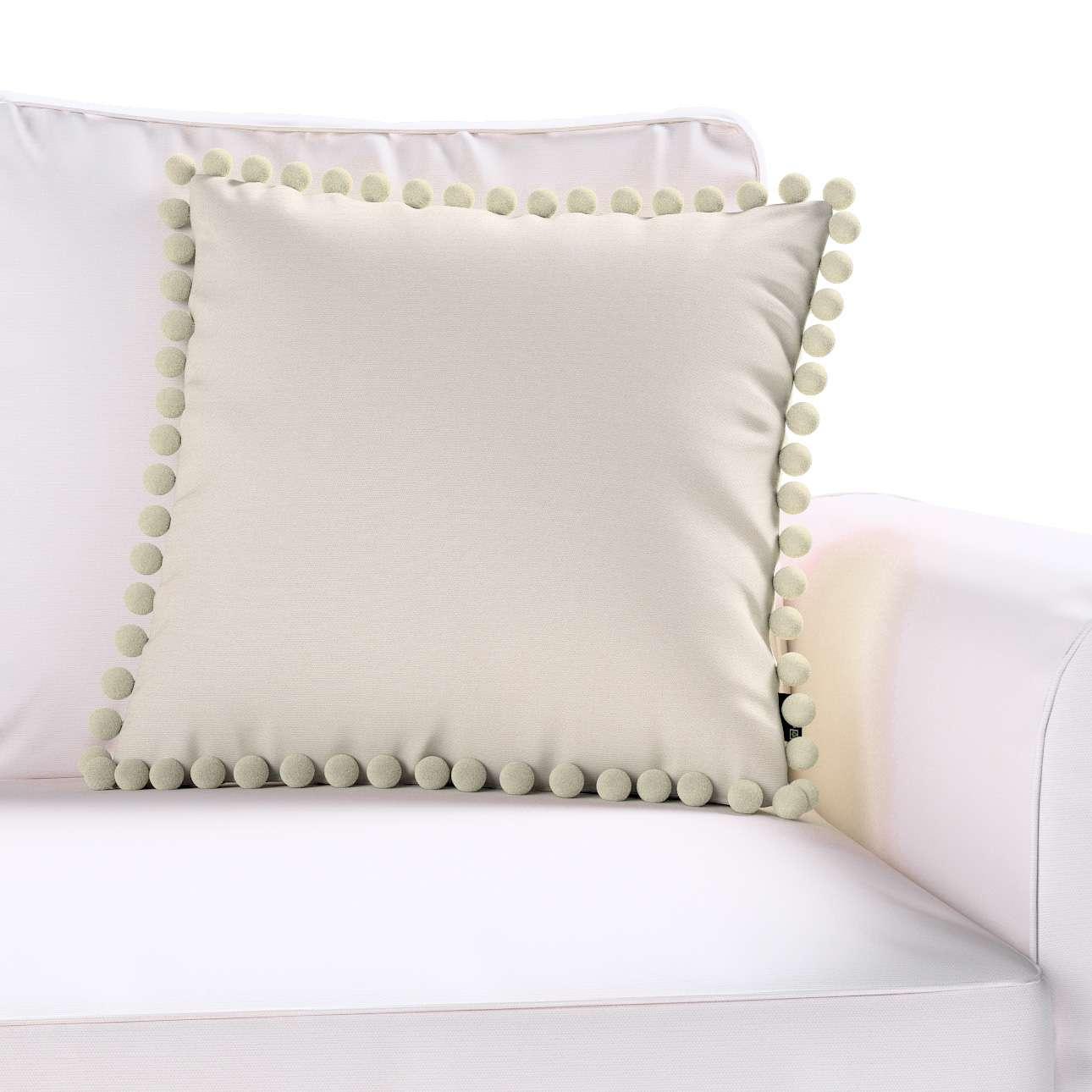 Wera dekoratyvinės pagalvėlės užvalkalas su žaismingais kraštais kolekcijoje Cotton Panama, audinys: 702-31