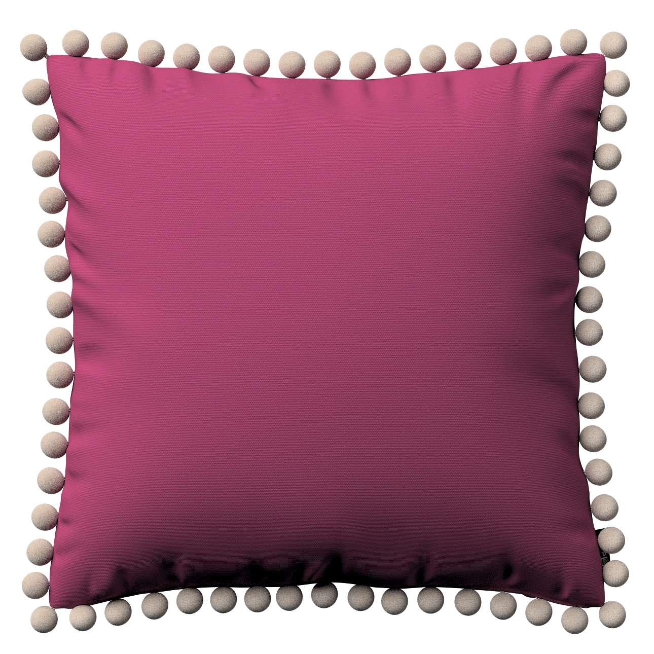 Wera dekoratyvinės pagalvėlės užvalkalas su žaismingais kraštais 45 x 45 cm kolekcijoje Cotton Panama, audinys: 702-32