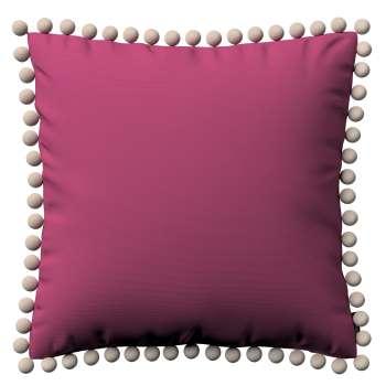 Kissenhülle Wera mit Bommeln 45 x 45 cm von der Kollektion Cotton Panama, Stoff: 702-32
