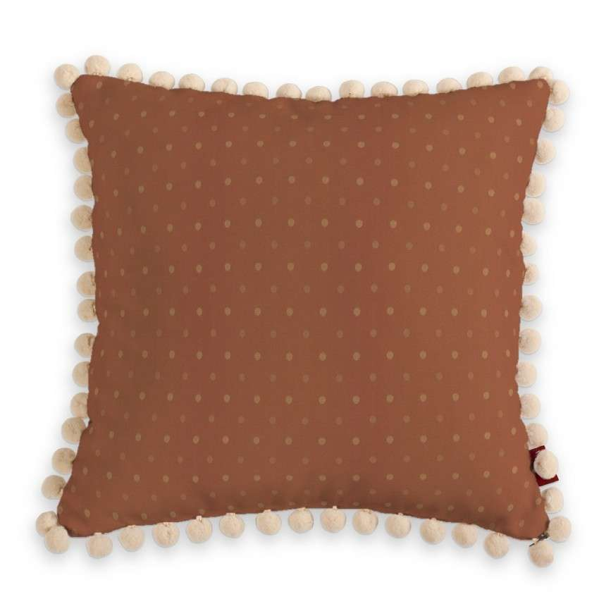 Vera cushion cover with pom poms in collection SALE, fabric: 130-08
