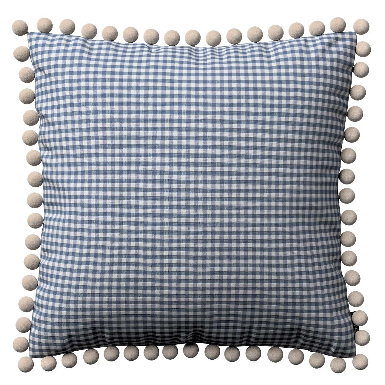 Wera dekoratyvinės pagalvėlės su žaismingais kraštais 45 x 45 cm kolekcijoje Quadro, audinys: 136-00