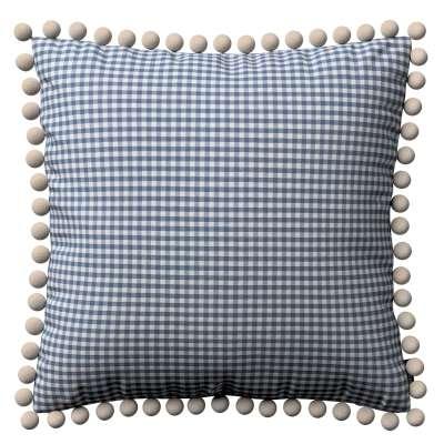 Poszewka Wera na poduszkę 136-00 granatowo biała krateczka (0,5x0,5cm) Kolekcja Quadro