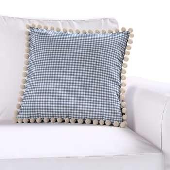 Wera dekoratyvinės pagalvėlės užvalkalas su žaismingais kraštais kolekcijoje Quadro, audinys: 136-00