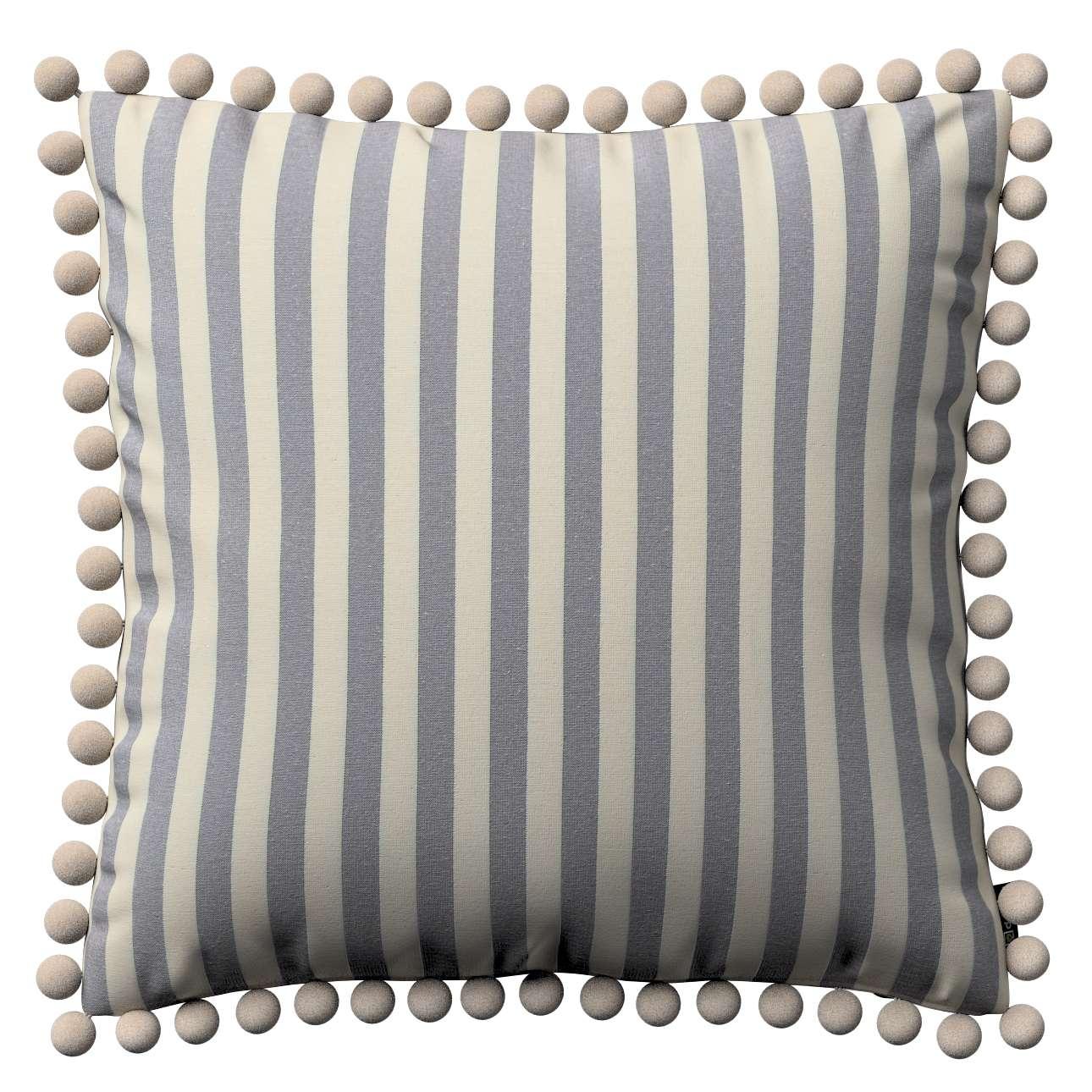 Wera dekoratyvinės pagalvėlės užvalkalas su žaismingais kraštais 45 x 45 cm kolekcijoje Quadro, audinys: 136-02
