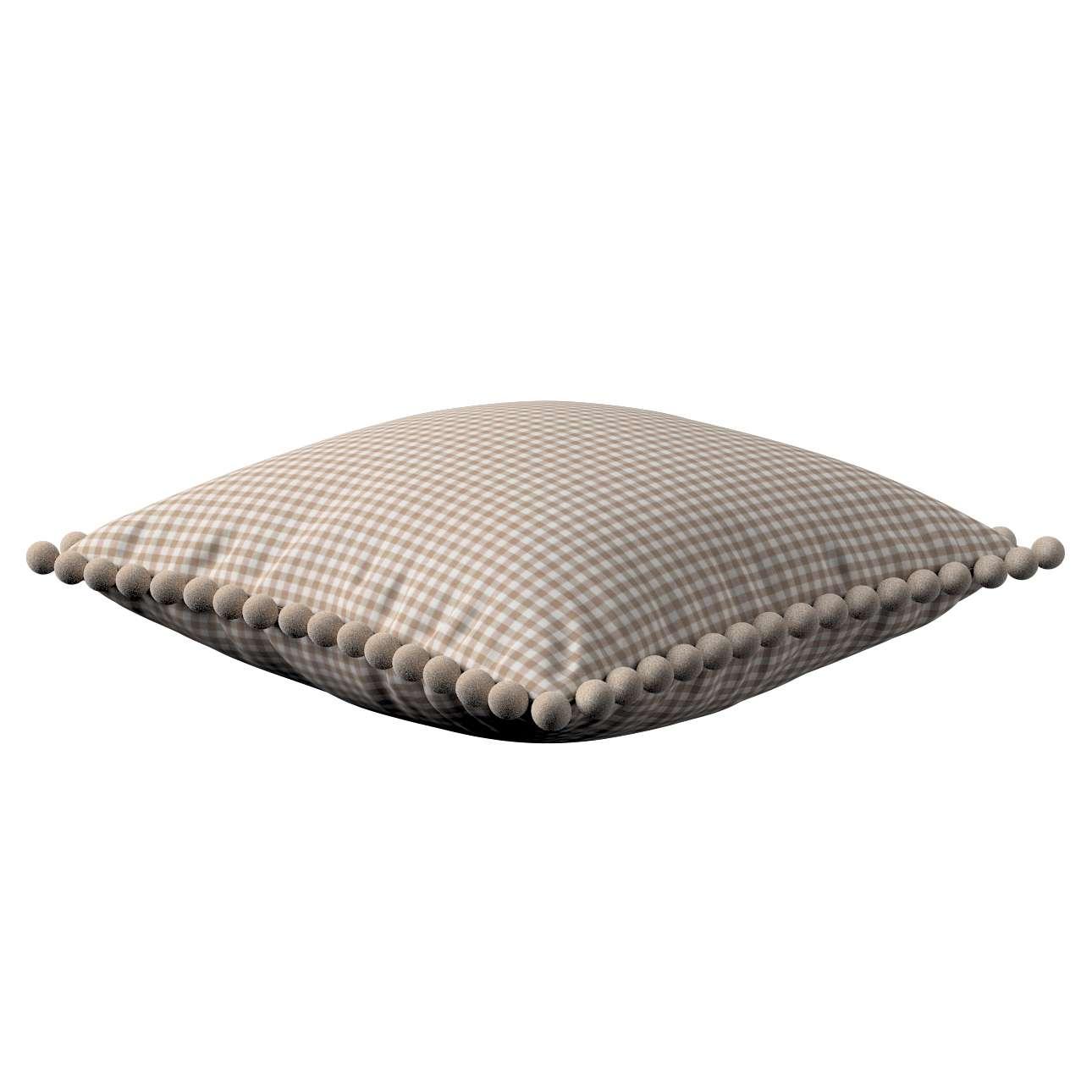 Wera dekoratyvinės pagalvėlės su žaismingais kraštais 45 x 45 cm kolekcijoje Quadro, audinys: 136-05