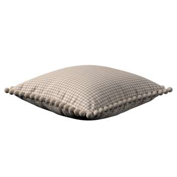 Wera dekoratyvinės pagalvėlės užvalkalas su žaismingais kraštais 45 x 45 cm kolekcijoje Quadro, audinys: 136-05