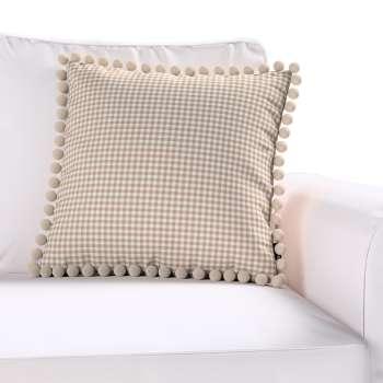 Wera dekoratyvinės pagalvėlės užvalkalas su žaismingais kraštais kolekcijoje Quadro, audinys: 136-05