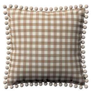 Wera dekoratyvinės pagalvėlės užvalkalas su žaismingais kraštais 45 x 45 cm kolekcijoje Quadro, audinys: 136-06