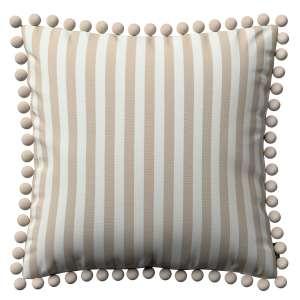 Wera dekoratyvinės pagalvėlės užvalkalas su žaismingais kraštais 45 x 45 cm kolekcijoje Quadro, audinys: 136-07
