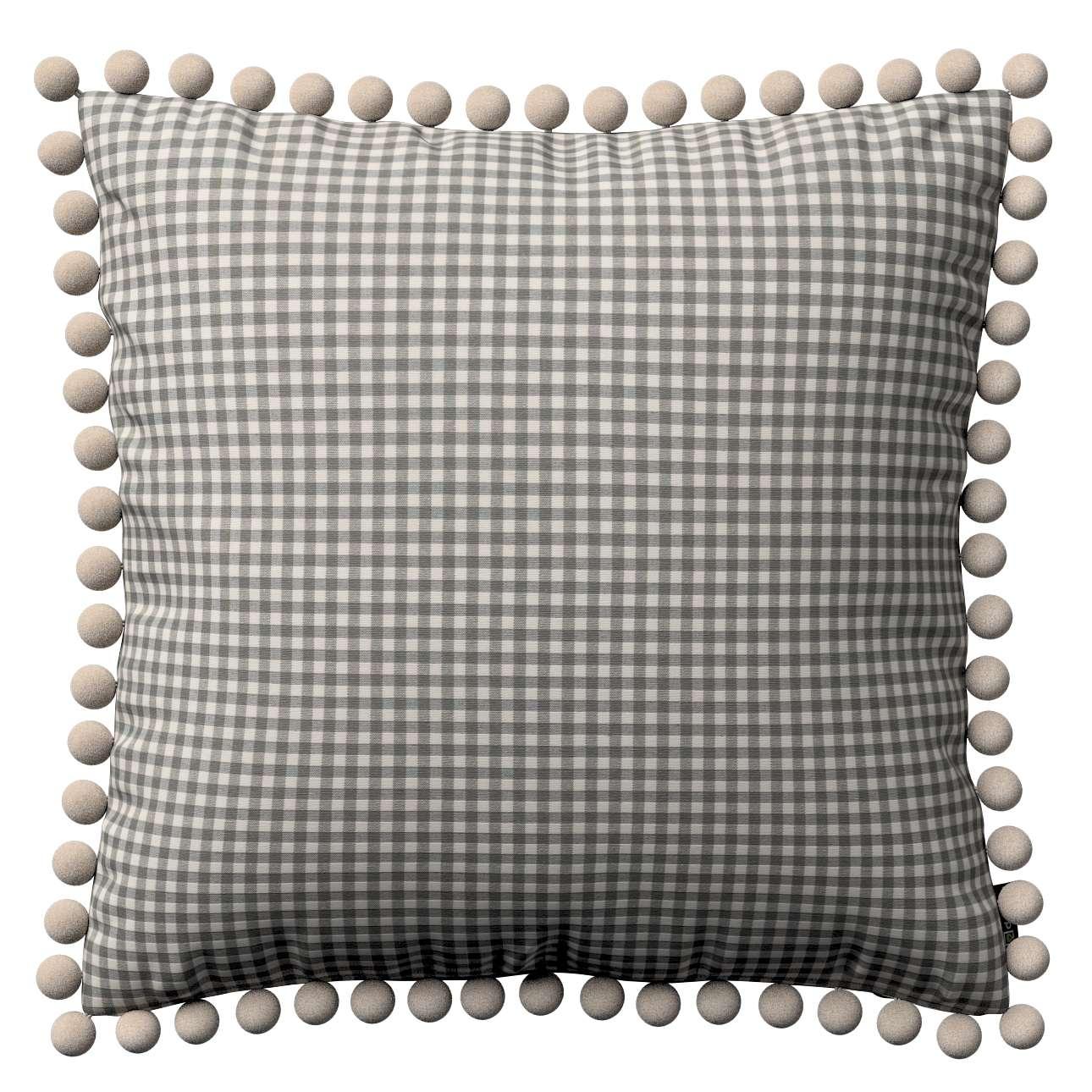Wera dekoratyvinės pagalvėlės su žaismingais kraštais 45 x 45 cm kolekcijoje Quadro, audinys: 136-10