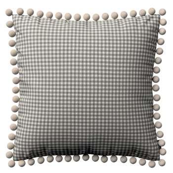 Wera dekoratyvinės pagalvėlės užvalkalas su žaismingais kraštais 45 x 45 cm kolekcijoje Quadro, audinys: 136-10