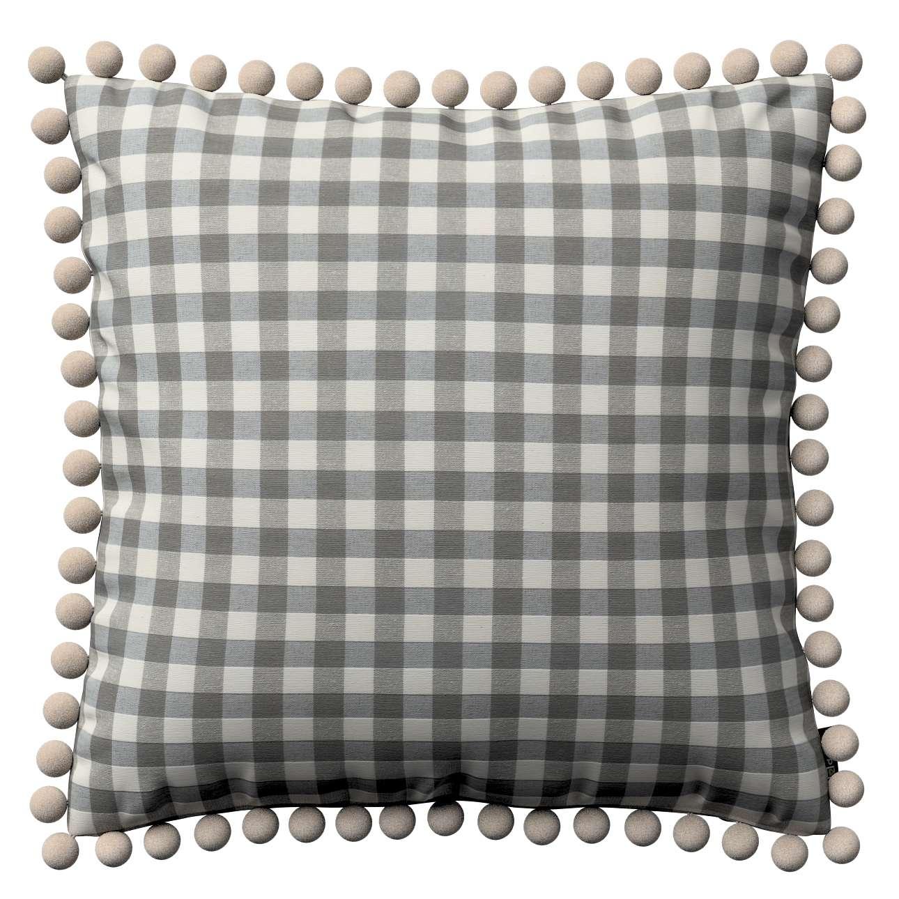 Wera dekoratyvinės pagalvėlės su žaismingais kraštais 45 x 45 cm kolekcijoje Quadro, audinys: 136-11