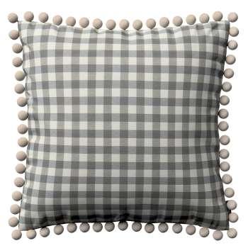 Wera dekoratyvinės pagalvėlės užvalkalas su žaismingais kraštais kolekcijoje Quadro, audinys: 136-11