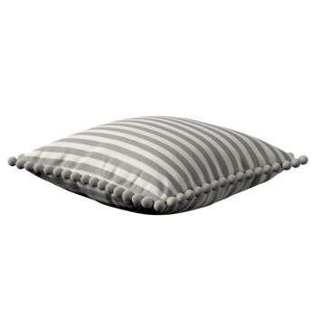 Wera dekoratyvinės pagalvėlės užvalkalas su žaismingais kraštais 45 x 45 cm kolekcijoje Quadro, audinys: 136-12