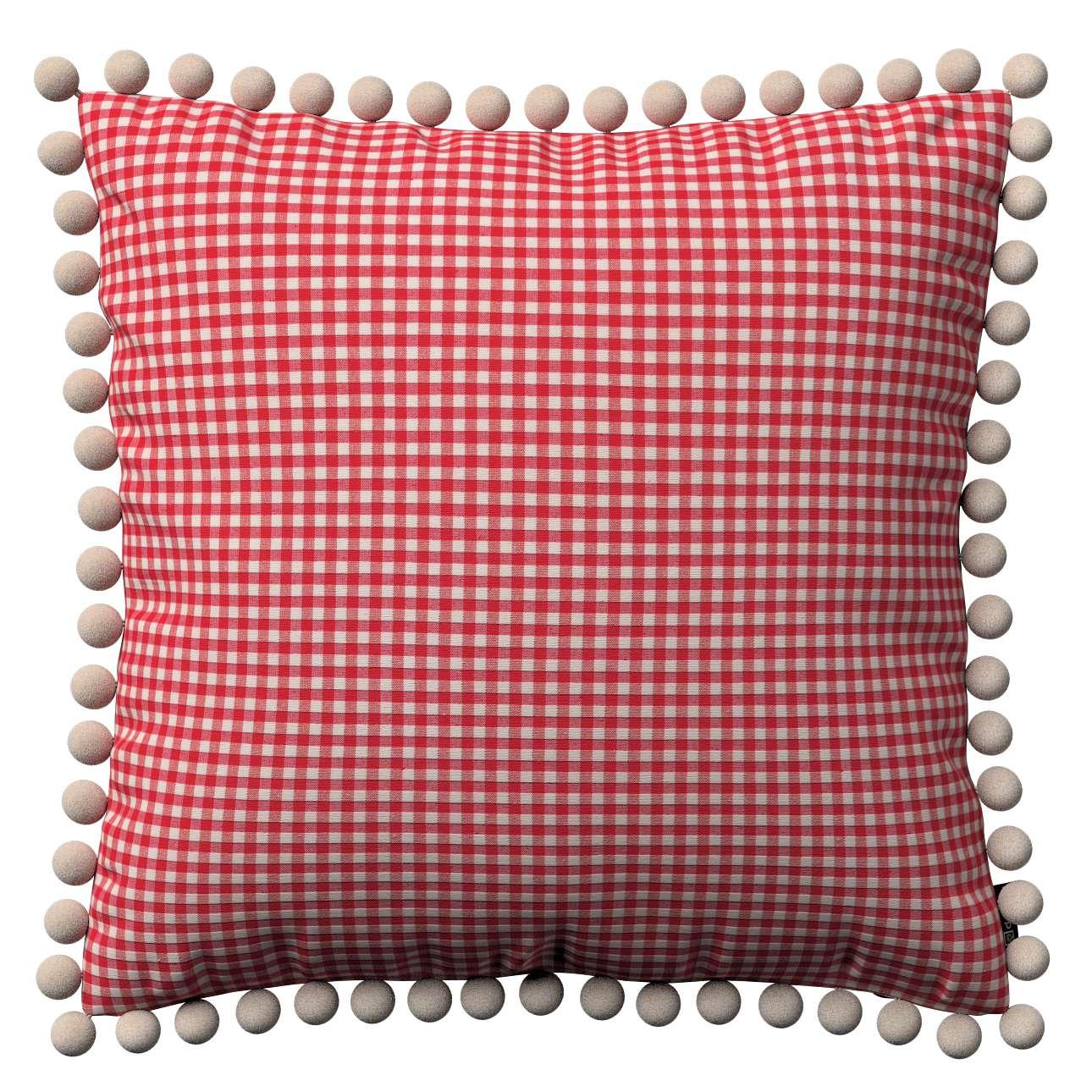 Wera dekoratyvinės pagalvėlės užvalkalas su žaismingais kraštais kolekcijoje Quadro, audinys: 136-15