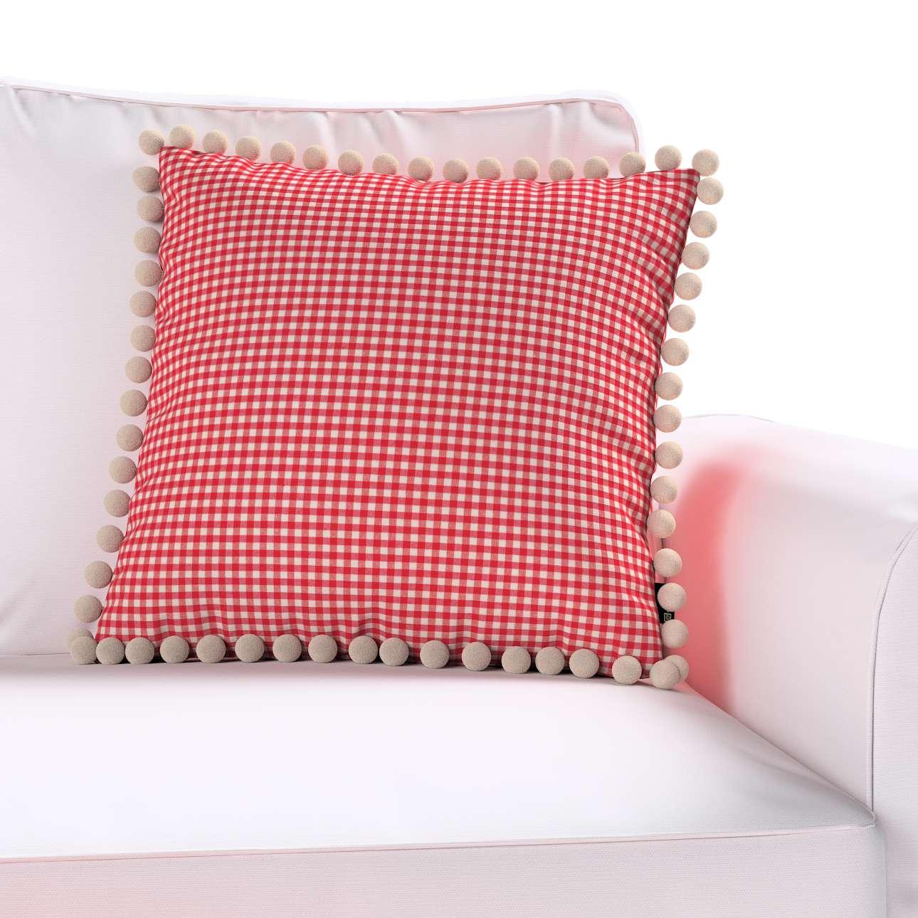 Wera dekoratyvinės pagalvėlės užvalkalas su žaismingais kraštais 45 × 45 cm kolekcijoje Quadro, audinys: 136-15