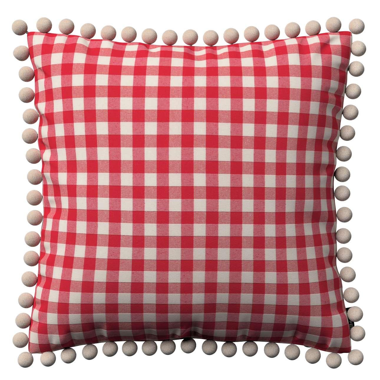 Wera dekoratyvinės pagalvėlės su žaismingais kraštais 45 x 45 cm kolekcijoje Quadro, audinys: 136-16