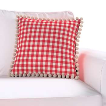 Wera dekoratyvinės pagalvėlės užvalkalas su žaismingais kraštais 45 x 45 cm kolekcijoje Quadro, audinys: 136-16