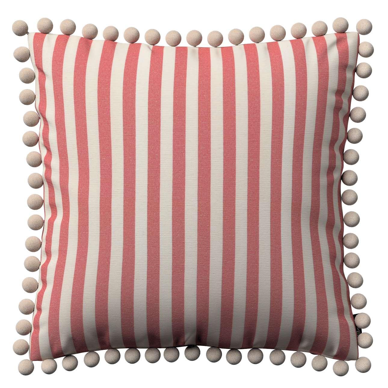 Wera dekoratyvinės pagalvėlės su žaismingais kraštais 45 x 45 cm kolekcijoje Quadro, audinys: 136-17