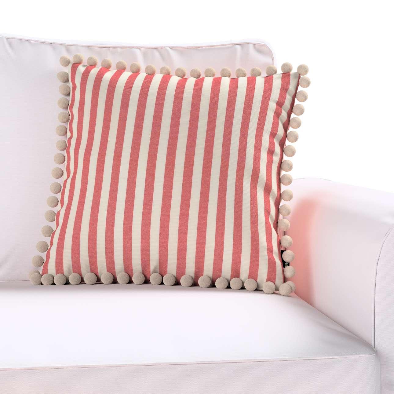Wera dekoratyvinės pagalvėlės užvalkalas su žaismingais kraštais 45 × 45 cm kolekcijoje Quadro, audinys: 136-17