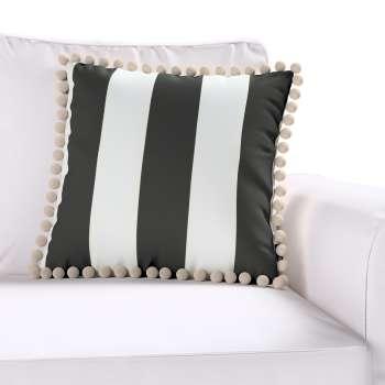 Wera dekoratyvinės pagalvėlės užvalkalas su žaismingais kraštais kolekcijoje Comics Prints, audinys: 137-53