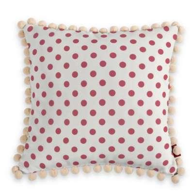 Wera dekoratyvinės pagalvėlės užvalkalas su žaismingais kraštais 137-70 Raudoni apskritimai šviesiame fone Kolekcija Little World