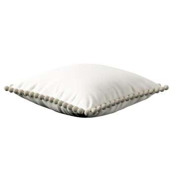 Kissenhülle Wera mit Bommeln 45 x 45 cm von der Kollektion Cotton Panama, Stoff: 702-34