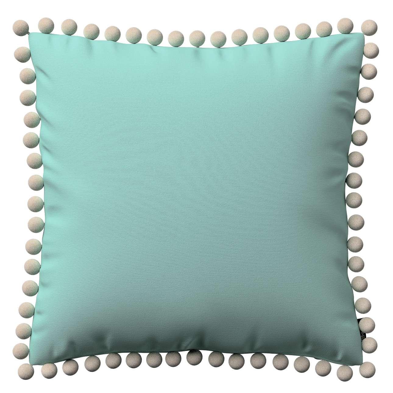 Wera dekoratyvinės pagalvėlės užvalkalas su žaismingais kraštais 45 × 45 cm kolekcijoje Loneta , audinys: 133-32