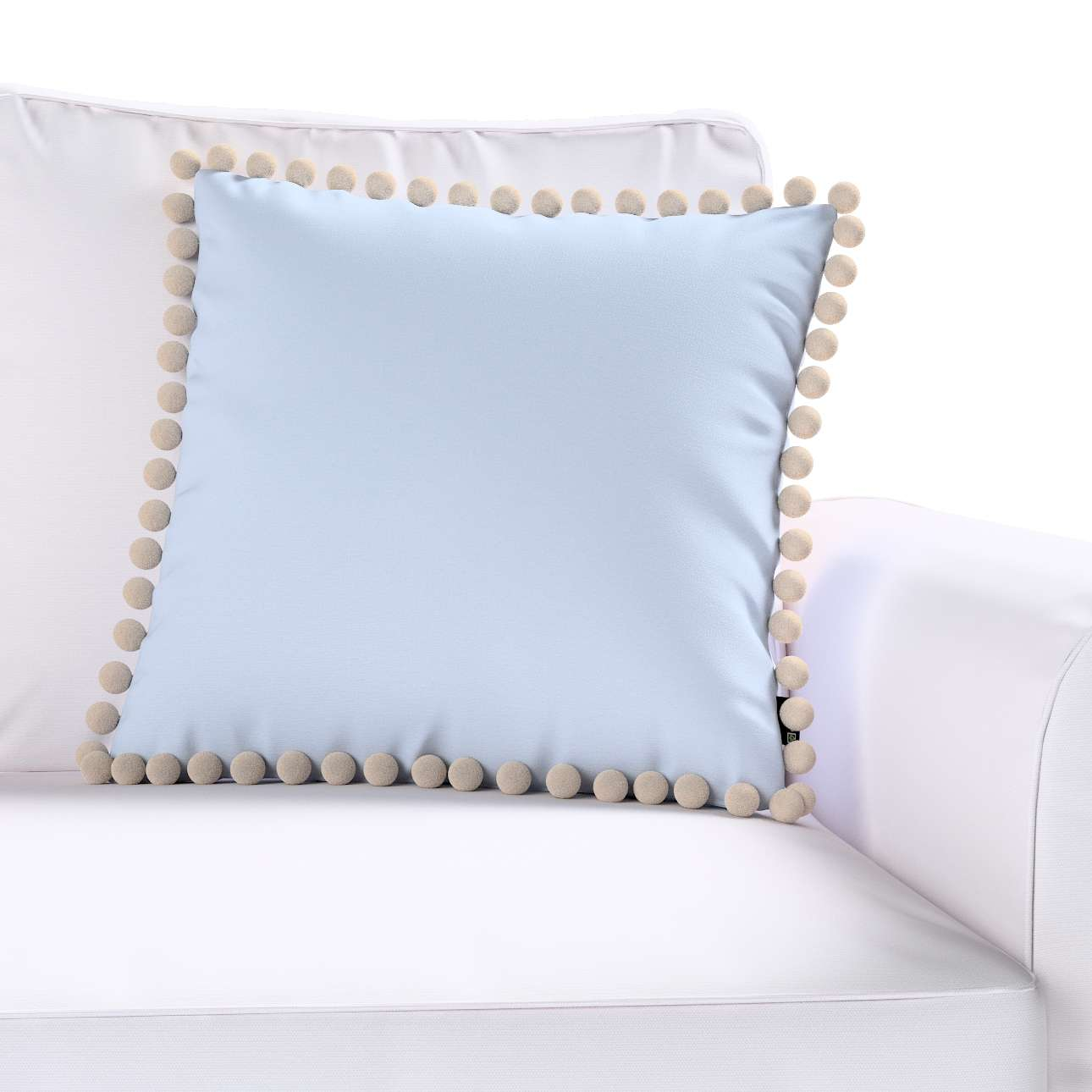 Wera dekoratyvinės pagalvėlės užvalkalas su žaismingais kraštais kolekcijoje Loneta , audinys: 133-35